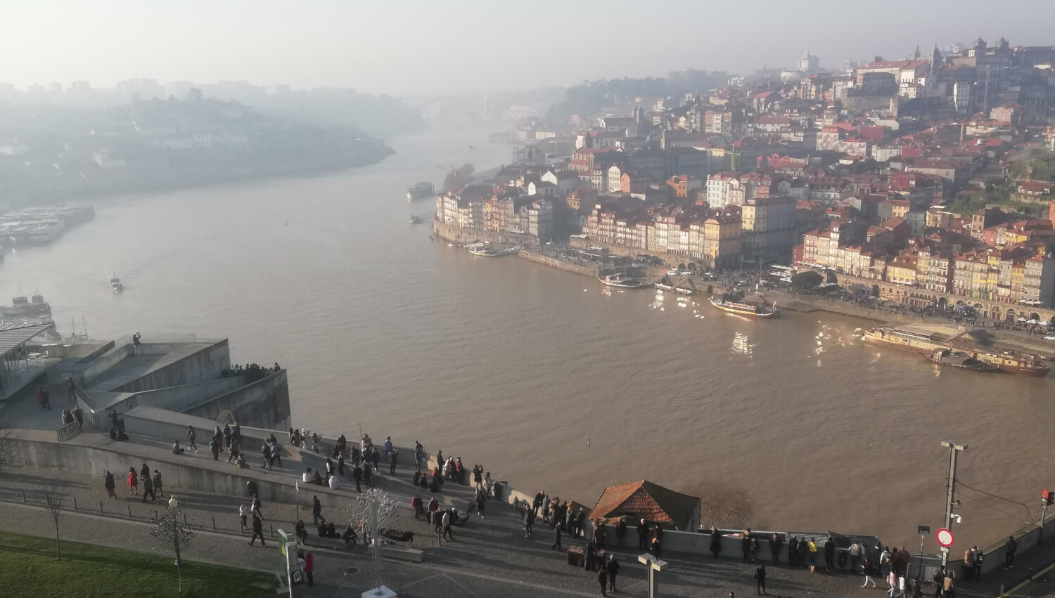 Beautiful Porto seen from the monastery across the river