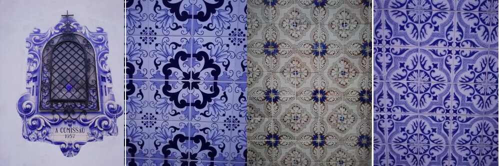 Some of the many tile designs in Portugal